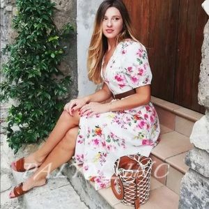 ❤️NWT ZARA LONG FLORAL PRINT DRESS